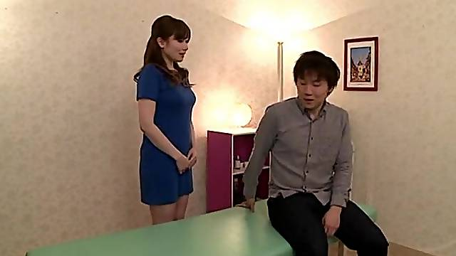 Sensual massage leads to lovely Chino Azumi being fucked hard