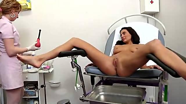 Hot Nurse Doing a Gyno Exam