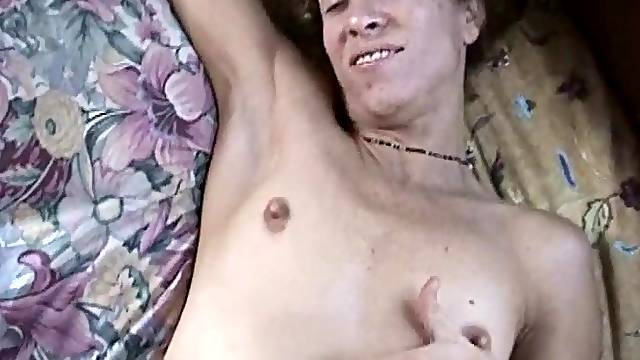 A MILF lays back and lets this younger guy bang her