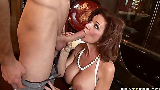 Big Tittied Red Head MILF Deauxma Getting Anal Fucked by Big Cock