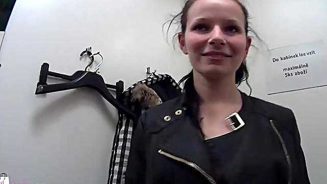 Teen girl on streets - czech teen streets