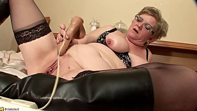 Natalie W is a granny with glasses who loves her buzzing toy