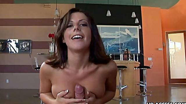 Penny Flame knows how to make a cock stiff with her hands
