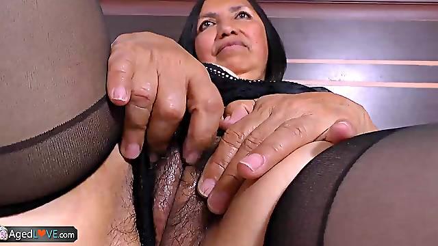 Horny mature granny latina chubby hardcore sexual intercourse