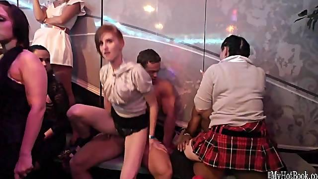 Massive orgy in the night club