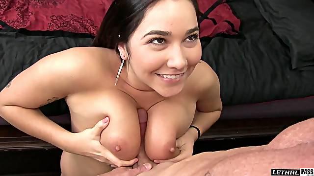 Karlee Grey bends over for a lover's engorged boner
