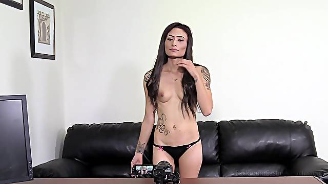 Casting couch action with cock hungry Olivia taking it deep