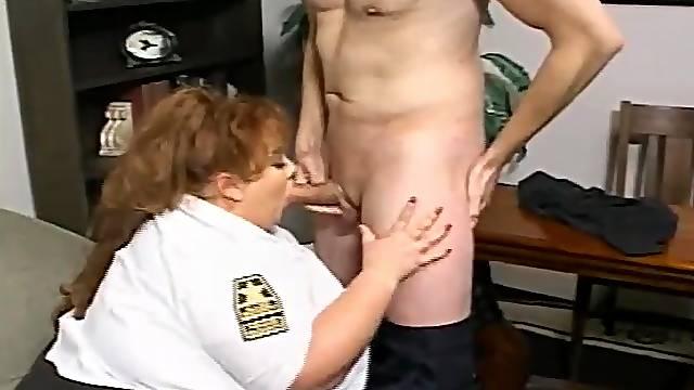 BBW police officer Zazie Jeannete gets brutally fucked