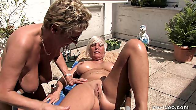 Lesbian threesome turns into group fucking with mature sluts and studs
