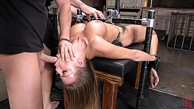 Hardcore anal bondage fuck with busty whore Britney Amber