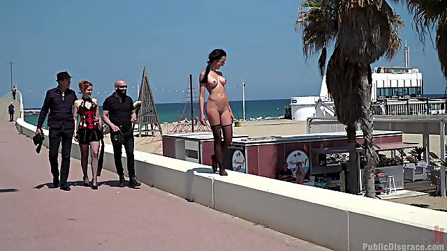 Public humiliation fuck with Francys Belle abused by Irina Vega