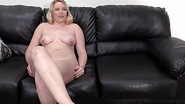 Casting couch missionary POV fuck with blonde amateur Annabelle