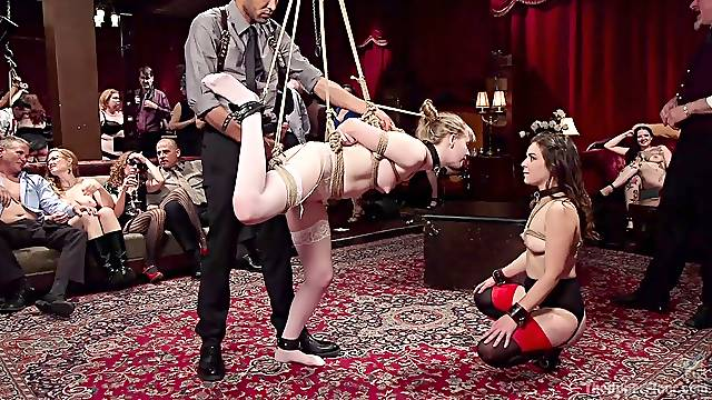 Bondage and spanking is a new experience foramazing Juliette March