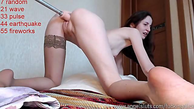 Webcam Fuck Machine And Amateur Brunette Dumpster