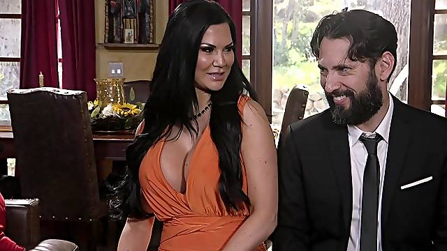 busty Jasmine Jae adores fuck in different poses with her horny friend
