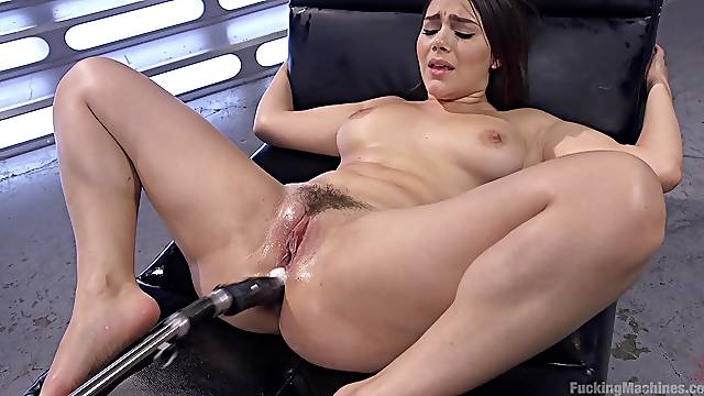 Valentina Nappi uses her sex machine to reach amazing orgasm alone