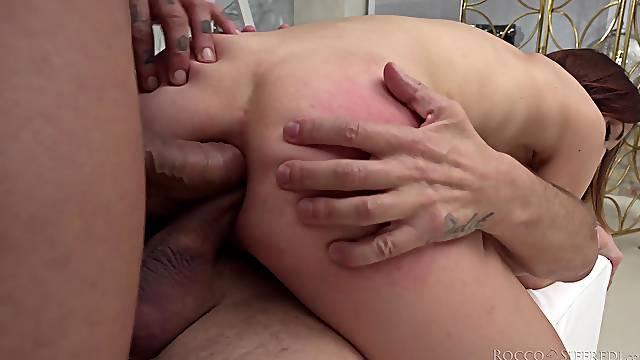 Mina K needs more than one stiff dick to reach an orgasm