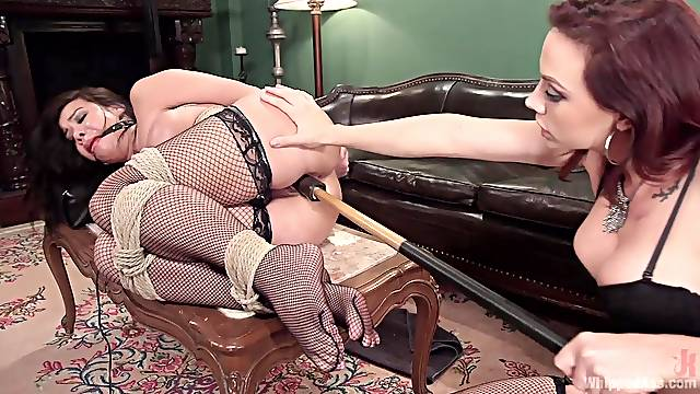 Sweet Kimmy Lee gets her tiny holes punished by a horny mistress