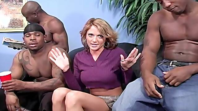 three handsome black dudes want to destroy Spring Thomas's pussy
