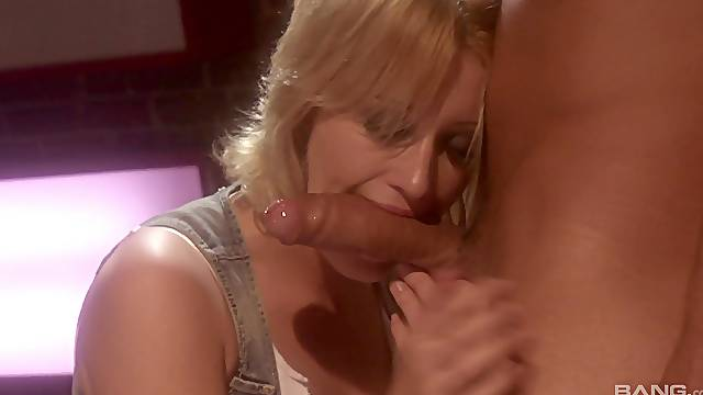 blonde milf Kimberly Kane adores to suck her friend's penis before sex