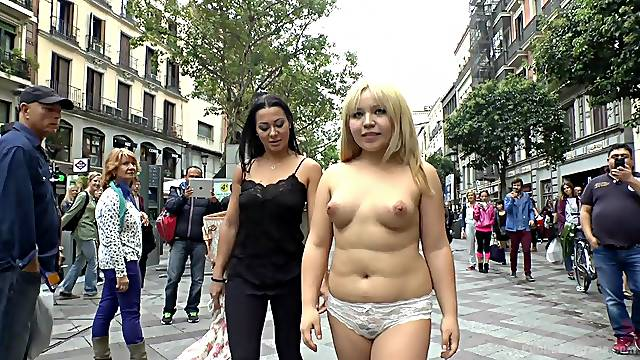 Chubby Asian GF Mitsuki Sweet public place humiliation and sex