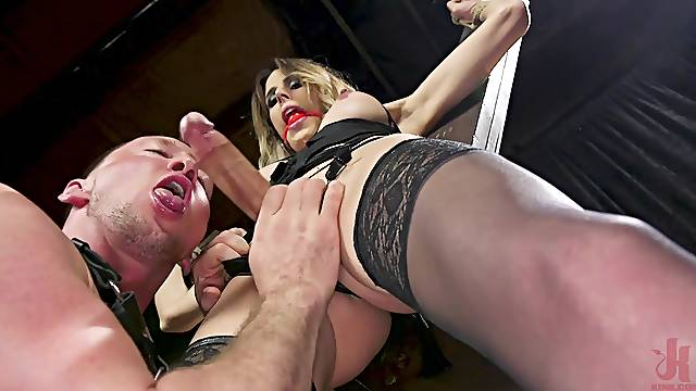 tranny Casey Kisses likes everything about ass licking and a good fuck