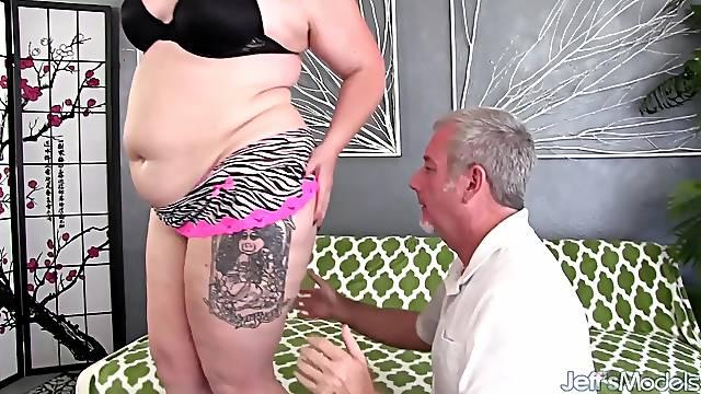 Grandpa Passionately Pounds Thick Hips BBW Calista Roxxx