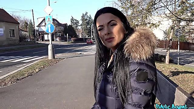 Shalina Devine enjoys hardcore fuck whit a dude while she moans