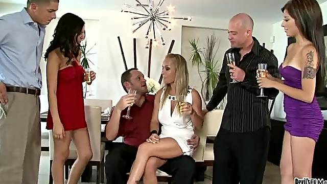 Sexy sluts going crazy sucking as much cock as possible