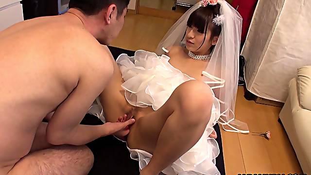 Japanese bride, Ruri Narumiya got fucked, uncensored