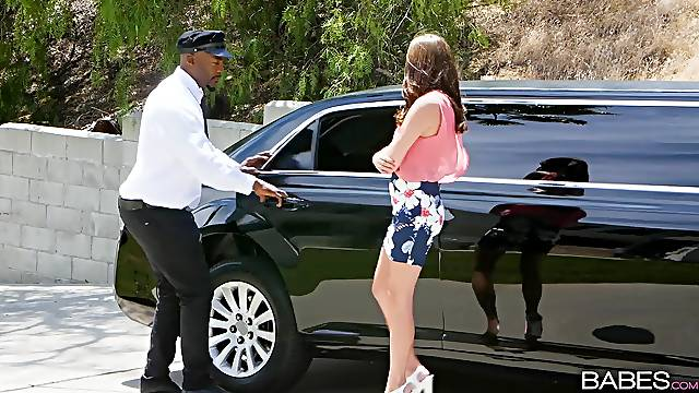 Black limo driver destroys his customers wet white pussy. Carolina Sweets