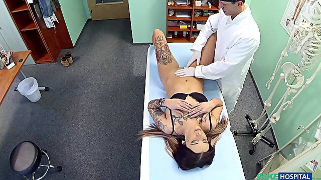Kirsten comes to get an exam and gets fucked by her horny doctor