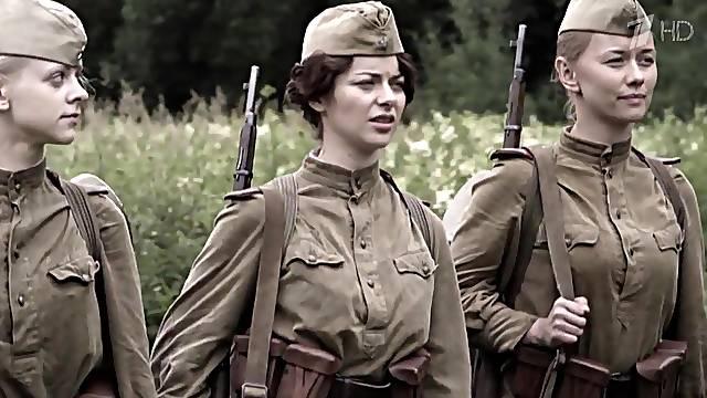 Russian celebrity in uniform