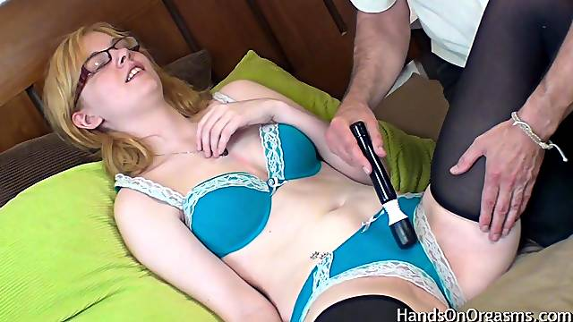 Sexy Blonde Made To Orgasm By Old Camera Man