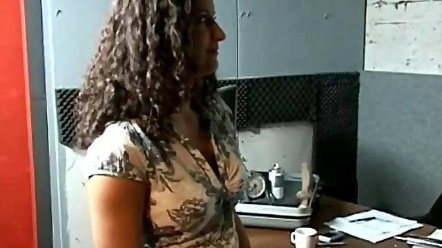 Brunette fucking hard with a stranger