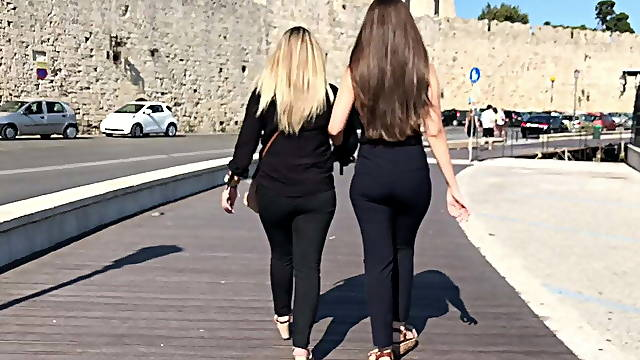 Greeks with beautiful asses for a walk