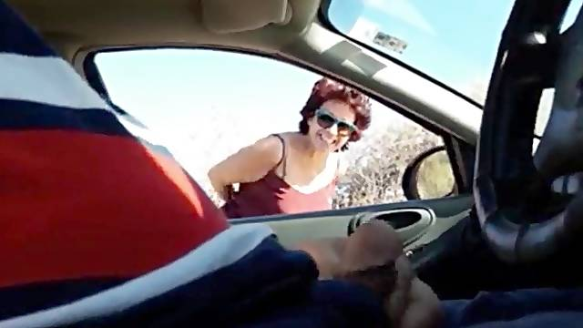 Mexican mature suck in car