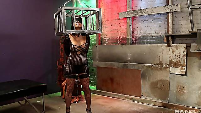 Eva Angelina and Katrina Jade having some fun in the torture dungeon