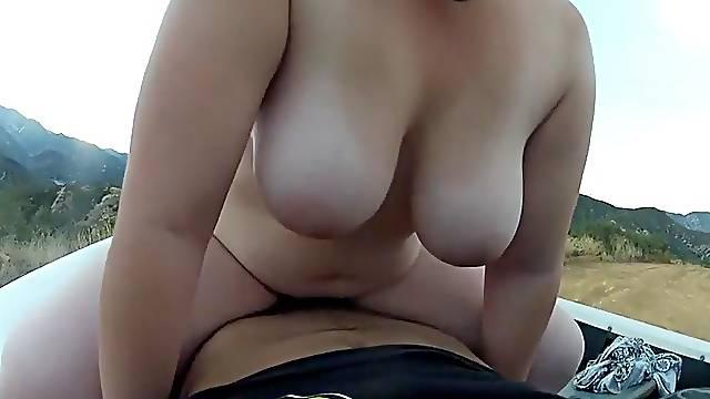 Polish BBW outdoor sex