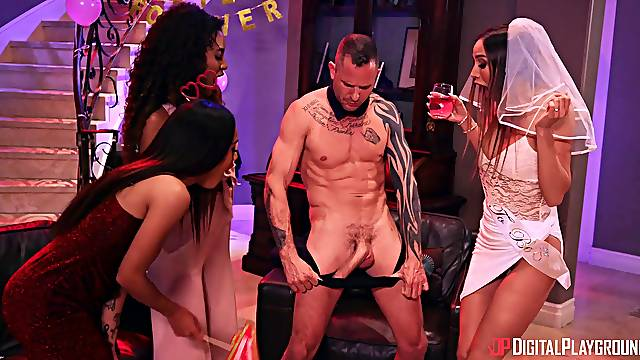 Male stripper with a long dick got lucky and banged Scarlit Scandal