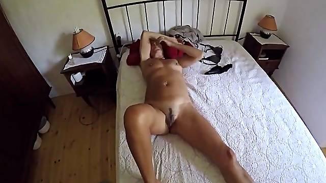 Filming a sleeping wife