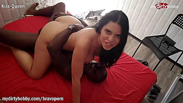Kira-Queen interracial BBC while cuckold husband films it p3