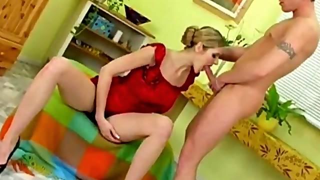 Big Boob Blonde Czech Blowjob Session Of Couple Arousing