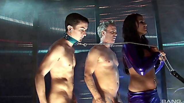 Erotic fucking between male slaves and cock hungry pornstars