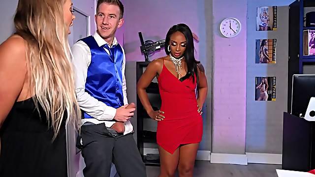 Erotic interracial sex with ebony pornstar Lola Marie and a big dick