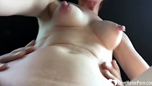 Nasty cheating wife gets hard dicked by stranger in his car