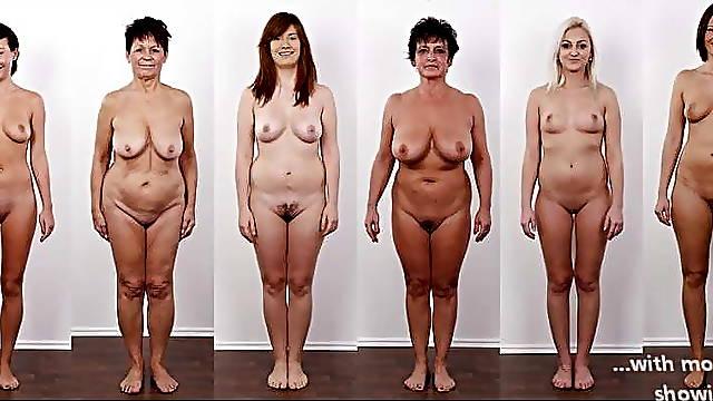 Different European naked women