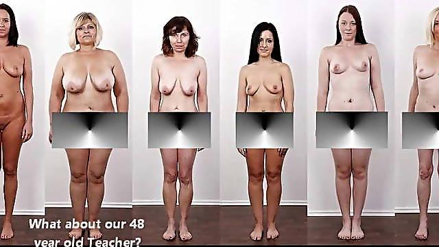 Different women undress