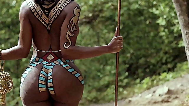 African with a big ass in a national dress