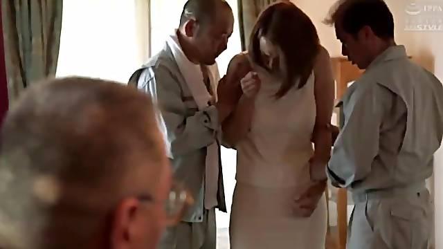 Gangbang for Japanese wife